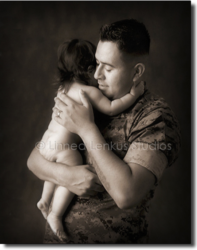 Father Baby Portraits, Father and Infant