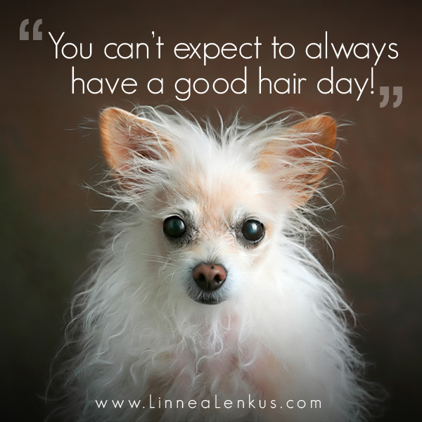 Not a good hair day Inspirational Quote