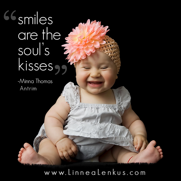 Smiles Are The Souls Kisses Inspirational Quote By Minna Thomas Antrim