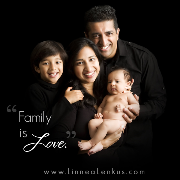 Inspirational Quote Love makes a family
