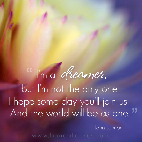 Inspirational Quote Imagine by John Lennon - Inspirational ...