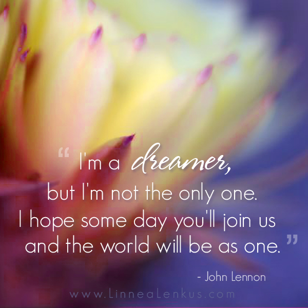 Inspirational Quote Imagine By John Lennon