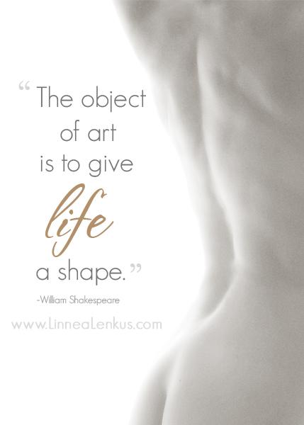 Inspirational Quote Object of Art by Shakespeare