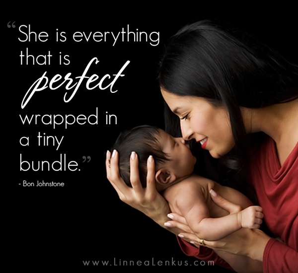 Inspirational Quote Perfect Baby