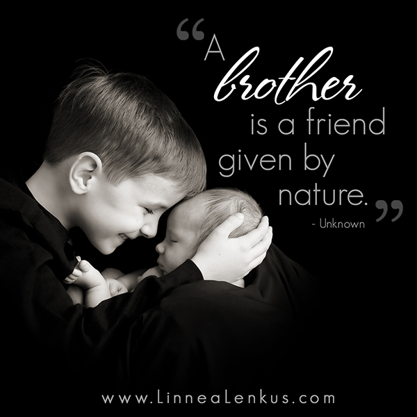 Inspirational Quote Brother is a friend by Nature