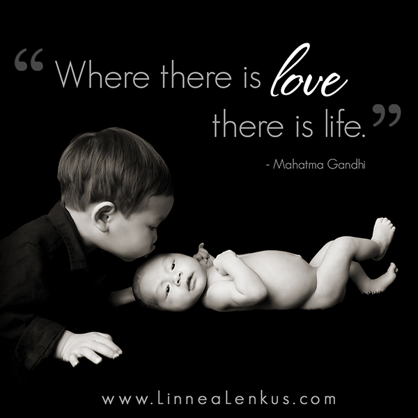 Inspirational Quote Love is Life 3