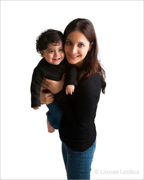 mother and baby photo photographed in an Encino portrait studio