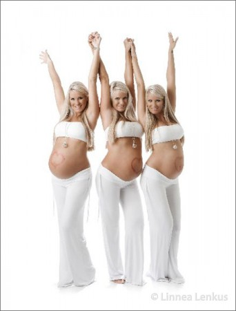 Maternity Photography of Dahm Triplets on Dr. Phil TV Show
